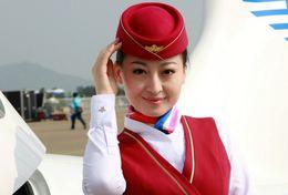 T80-097  ]  Flight Attendants Air Attendants Stewardesses Hostesses Cabin Crew , China Pre-paid Card, Postal Stationery - Jobs