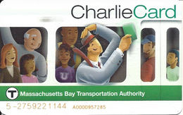 Plastic Charlie Card - Massachusetts Bay Transportation Authority - Transportation Tickets
