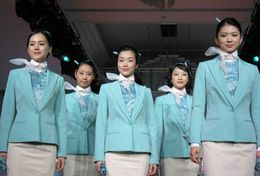 T80-103 ]  Flight Attendants Air Attendants Stewardesses Hostesses Cabin Crew , China Pre-paid Card, Postal Stationery - Jobs