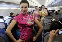 T80-109 ]  Flight Attendants Air Attendants Stewardesses Hostesses Cabin Crew , China Pre-paid Card, Postal Stationery - Jobs