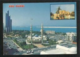 United Arab Emirates UAE Abu Dhabi Picture Postcard General View Of City  Abu Dhabi Mosques Building - Dubai