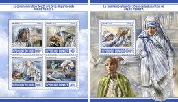 NIGER 2017 ** Mother Teresa Mutter Teresa Mere Teresa M/S+S/S - IMPERFORATED - DH1729 - Mother Teresa
