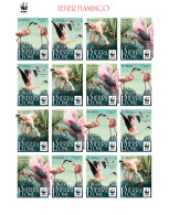 SIERRA LEONE 2017 ** WWF Lesser Flamingo Kleiner Flamingo Moins Flamant M/S III - IMPERFORATED - DH1729 - Unused Stamps