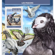TOGO 2017 ** Pigeons Tauben S/S - OFFICIAL ISSUE - DH1729 - Columbiformes