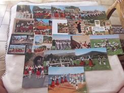 LOT DE 18 CARTES FOLKLORE DU PAYS BASQUE - Cartes Postales