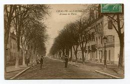CPA    71  :  CHALON Sur SAONE   Avenue De Paris    A  VOIR  !!!!!!! - Chalon Sur Saone