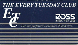 Ross Every Tuesday Club For Seniors - Paper Card - Other Collections