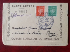Journée Du Timbre 1943 - FDC