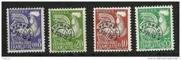 """FR Préo YT 119 à 122 """" Coq Gaulois En Nouveau Franc """" 1960 Neuf** - 1953-1960"""