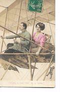 """Couple  Dans  Avion  """"  On  Est  Si  Bien  Loin  De  La  Terre  !  """" -  Tres  Petite  Personne  Ajouté - Fantaisies"""