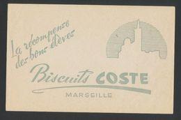Buvard - Biscuits COSTE - MARSEILLE - Buvards, Protège-cahiers Illustrés
