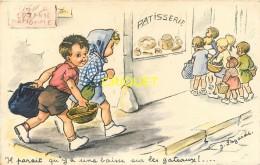 Illustrateur Lagarde, Style Bouret, Il Parait Qu'il Y A Une Baisse Sur Les Gateaux, Enfants Et Patisserie - Illustrateurs & Photographes