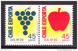 Chile - Chili 1991 Yvert 1021- 22, Definitive, Chilean Exportation - MNH - Chile