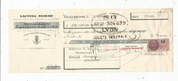 LETTRE DE CHANGE , LACTINA SUISSE , Ets F. BRUNNER , VILLEURBANNE , 1937 , Timbrée - Bills Of Exchange