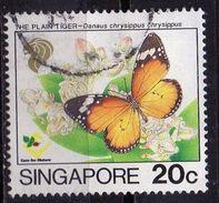 PIA - SINGAPORE - 1993 : Farfalle - Danaus Chrysippus  - (Yv  676) - Singapore (1959-...)