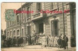 11 - THEZAN Des CORBIERES - GROUPES D'ENFANTS DEVANT La MAIRIE - Francia