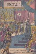 """Menu Publicitaire Champagne """"Charles HEIDSIECK"""" - Illustrateur - REIMS - Jeanne D'ARC - Le Serment Dans La Salle Des Roi - Menus"""