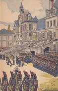"""Menu Publicitaire Champagne """"Charles HEIDSIECK"""" - Illustrateur - FONTAINEBLEAU - Le Roi De Rome - Menus"""