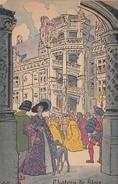"""Menu Publicitaire Champagne """"Charles HEIDSIECK"""" - Illustrateur - BLOIS - La Visite Du Chateau - Menus"""