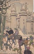 """Menu Publicitaire Champagne """"Charles HEIDSIECK"""" - Illustrateur - Chateau De PIERREFONDS - Le Récit Du Pelerin - Menus"""