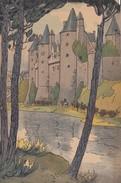 """Menu Publicitaire Champagne """"Charles HEIDSIECK"""" - Illustrateur - Chateau De JOSSELIN - Noce Bretonne - Menus"""