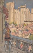 """Menu Publicitaire Champagne """"Charles HEIDSIECK"""" - Illustrateur - Le Pont D'AVIGNON - Le Palais Des Papes - Menus"""