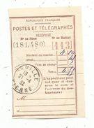 Récépissé De Mandat , POSTES ET TELEGRAPHES , ROUILLE , VIENNE , 1932 , Oblitération - Non Classés