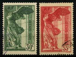 FRANCE - YT 354 Et 355 - VICTOIRE DE SAMOTRHACE - 2 TIMBRES OBLITERES - Oblitérés