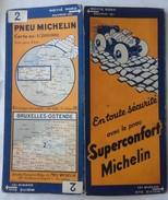 CARTE GÉOGRAPHIQUE Michelin - N° 002 - BRUXELLES - OSTENDE N°3320-63 - Strassenkarten