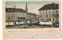 Mulhouse Neuquartierplatz Tram Magasin De Corsets  Vers Max Claass Napoli - Mulhouse