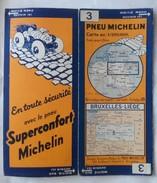 CARTE GÉOGRAPHIQUE Michelin - N° 003 - BRUXELLES-LIEGE N°3317-63 - Strassenkarten