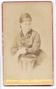 FOTO ANTICA SIGNORA STUDIO AMBROSETTI TORINO CM.10,5X6 - Antiche (ante 1900)