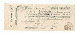 LETTRE DE CHANGE, L. BONNIN & Cie ,MAUZE SUR LE MIGNON , Deux Sèvres , 1932 , Timbrée - Bills Of Exchange