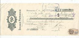 LETTRE DE CHANGE, Mandat , Sylvain PATROUX , Propriétaire De Vignobles , RIVESALTES , 1932 - Bills Of Exchange