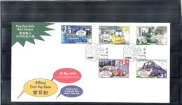 FDC Hong Kong - 1999 - Public Road Transport - Complete Set - 1997-... Région Administrative Chinoise