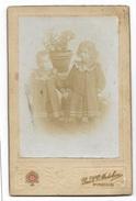 FOTO ANTICA BAMBINI ANNO 1896  - CM.12,78,2 - Foto