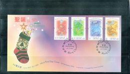 FDC Hong Kong - 2002 - Merry Christmas - Complete Set - 1997-... Région Administrative Chinoise