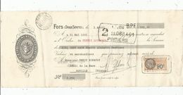 LETTRE DE CHANGE, Mandat , Ets LEFEBVRE , FORS, Deux Sèvres , Timbré , 1932 - Bills Of Exchange
