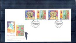 FDC Hong Kong - 2003 - Heartwarming - Complete Set - 1997-... Région Administrative Chinoise