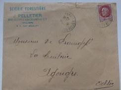 """Enveloppe """"Scierie Forestière"""" J. Pelletier Bourbon L'Archambault (01). - Vieux Papiers"""