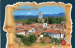 CESSENON-SUR-ORB - Le Village Avec L'Orb - Chapelle Sainte Anne - La Tour - France