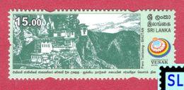 Sri Lanka Stamps 2017, UN Vesak Day, Paro Taktsand, Bhutan, Buddha, Buddism, MNH - Sri Lanka (Ceylon) (1948-...)