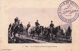 Carte Postale Maroc Cercle De Séfrou Service Des Renseignements Fez 1915 Troupes Du Maroc Occidental Cachet Militaire - 1857-1916 Keizerrijk