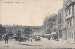 Cpa -22-guingamp-animée-place Du Centre-voitures- Gare-edi Boisdet N°2 - Guingamp