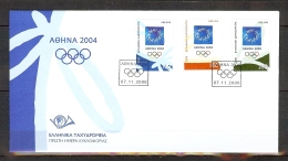 ENVELOPPE PJ DES JEUX OLYMPIQUES D'ATHENES DE 2004 - Ete 2004: Athènes