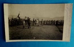 Cpa CARTE PHOTO MILITARIA GUERRE 1914 Décoration 8e ZOUAVES Par Poincaré CHAUX ALSACE TERRITOIRE DE BELFORT 90 ? - Personajes
