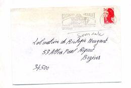 Lettre Flamme Saint Pons Grotte Deveze - Marcophilie (Lettres)