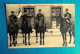Cpa MILITARIA - MILITAIRES à CHEVAL - ROUEN - L' étendard Du 43e REGIMENT ARTILLERIE - Rouen