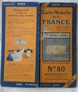 Carte Géographique MICHELIN - N° 080 - RODEZ-NIMES N° 2533-212 - Roadmaps