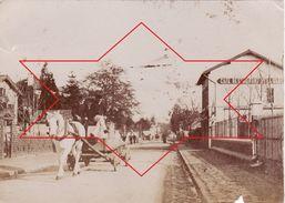 Photo 1893 SCEAUX-ROBINSON - Une Rue, Café Restaurant De La Gare, Un Attelage (A177) - Sceaux